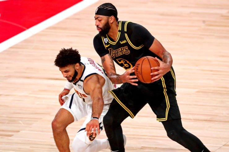 Los Angeles Lakers forward Anthony Davis vs Nuggets guard Jamal Murray