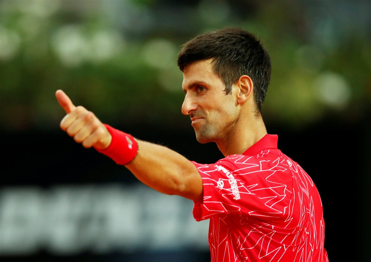 Novak Djokovic at the Italian Open 2020