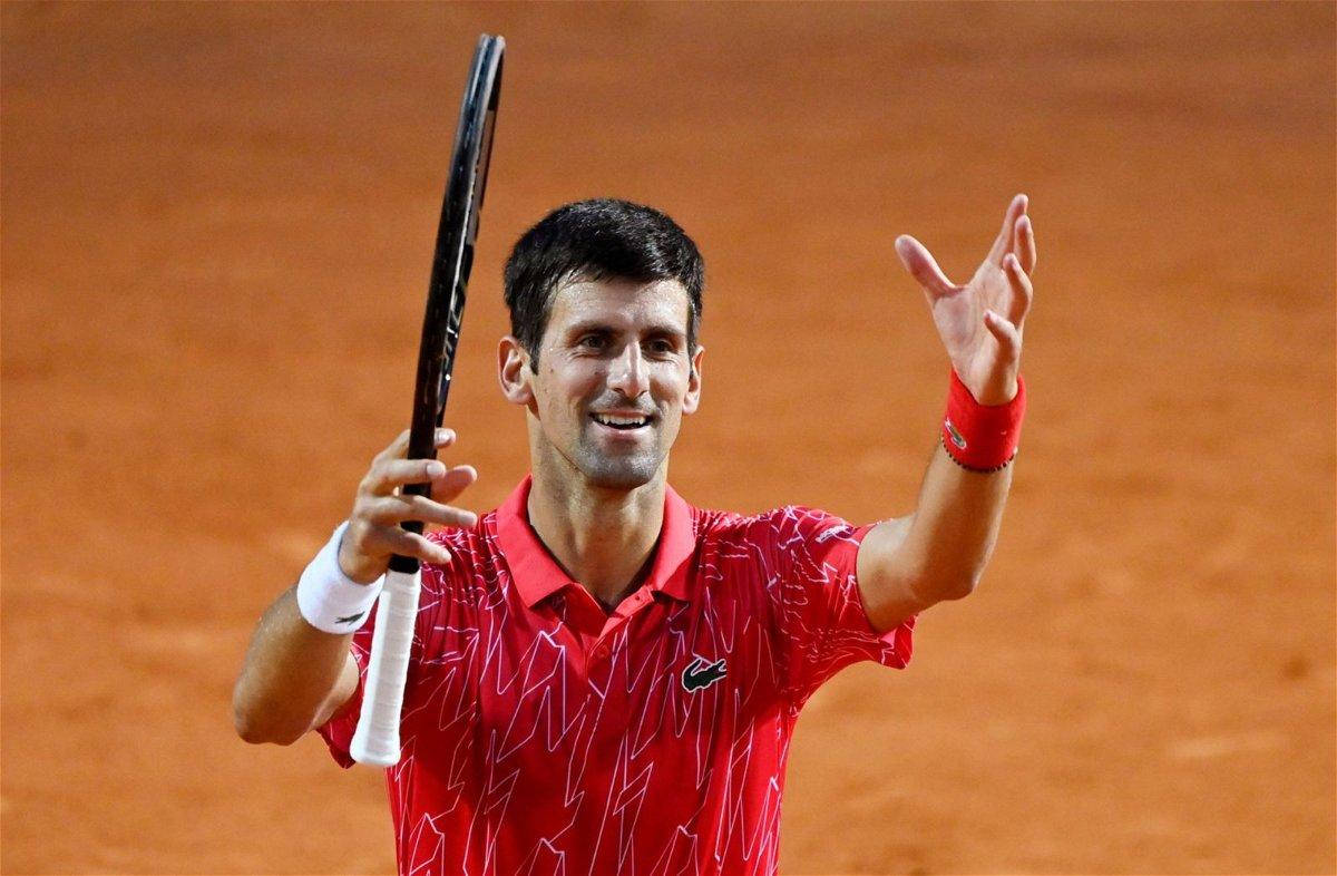 Novak Djokovic at Italian Open 2020 finals