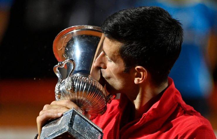 Novak Djokovic with the Italian Open 2020 title