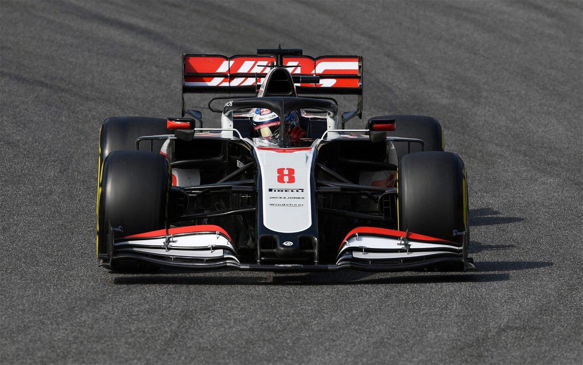 Haas F1's Romain Grosjean during the Tuscan Grand Prix