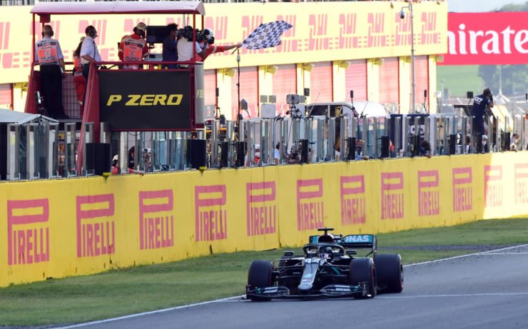 Mercedes driver coasts home in first place at the Tuscan Grand Prix