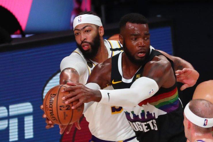 Lakers Anthony Davis against Denver Nuggets