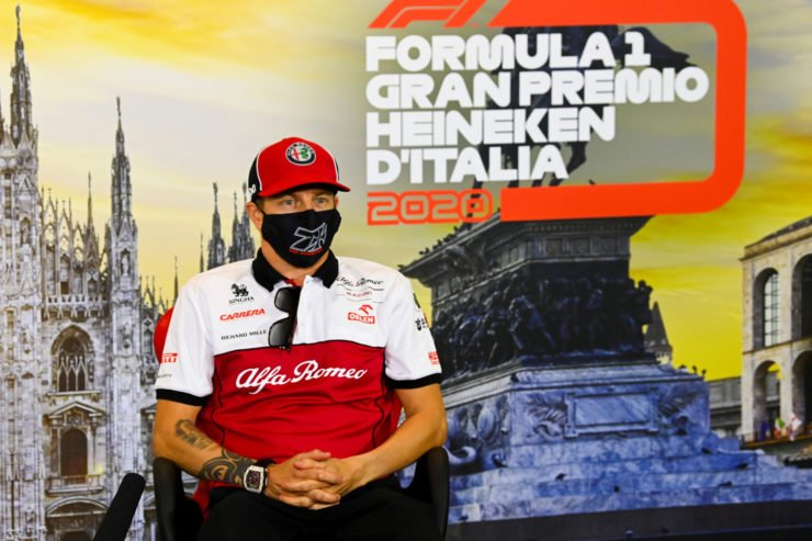 Kimi Raikkonen before Monza race at the Italian Grand Prix