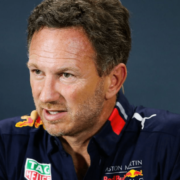 Red Bull chief at a press conference.