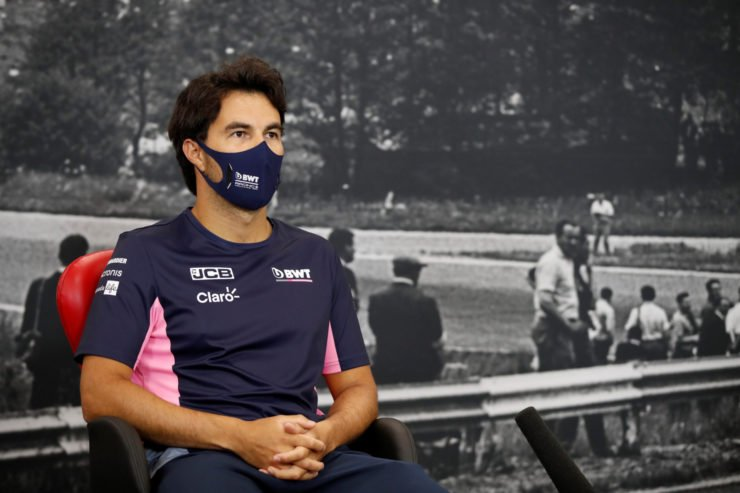 Sergio Perez during press conference at Belgian Grand Prix 2020