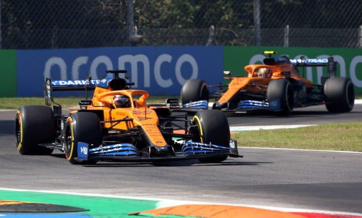 McLaren Cars Racing In The Italian GP