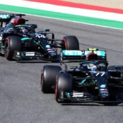Mercedes Car In Action During The Tuscan GP