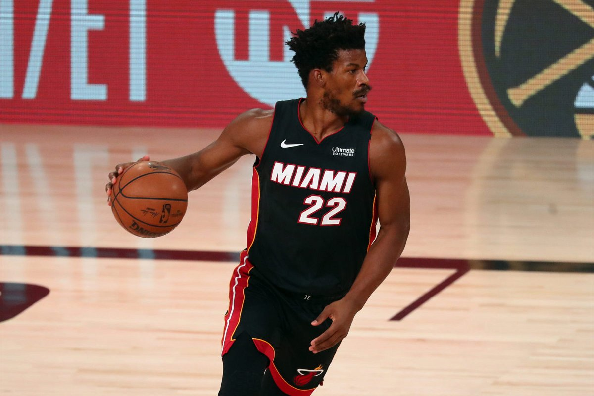 Jimmy Butler in action in ECF Game 4 against Boston Celtics