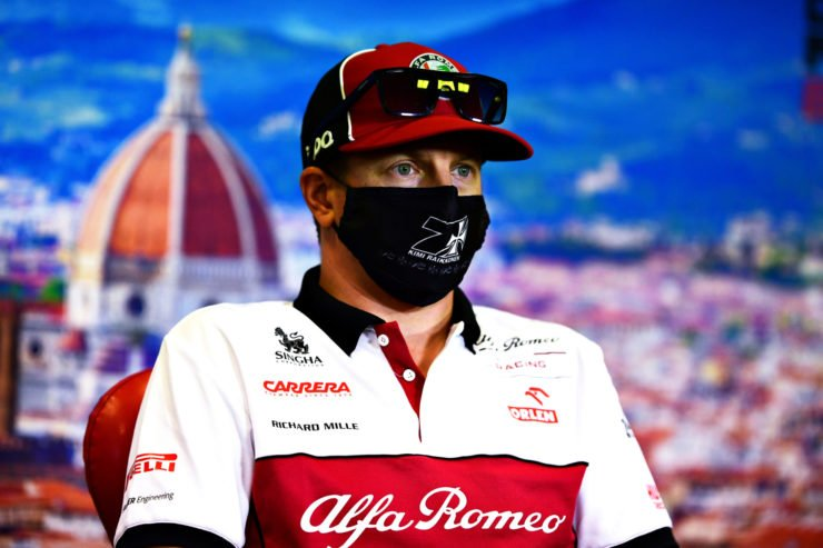 Kimi Raikkonen At The Tuscan GP Press Conference