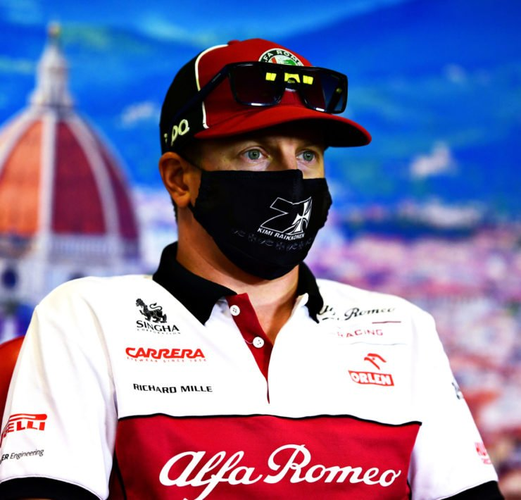Kimi Raikkonen At The Tuscan GP Press Conference