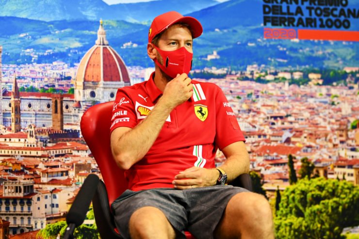 Sebastian Vettel At The Tuscan GP Press Conference