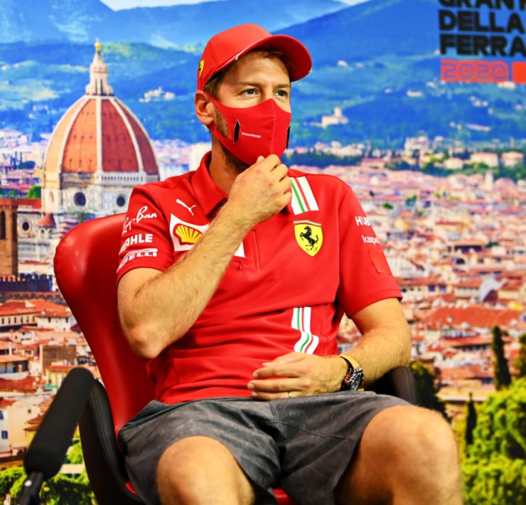 Sebastian Vettel At The Tuscan GP Press Conference