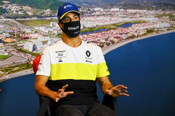 Daniel Ricciardo at the Russian Grand Prix