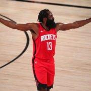 Houston Rockets superstar James Harden in 2020 NBA playoffs