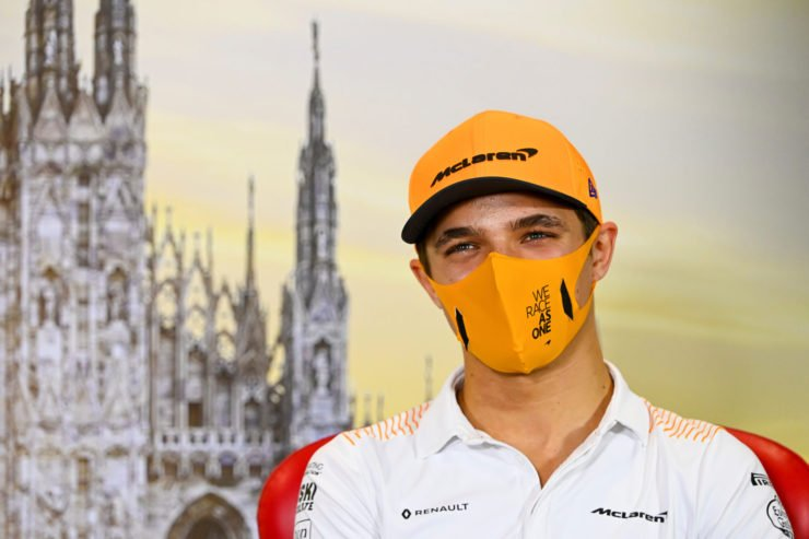 Lando Norris's hilarious comments on Charles Leclerc and Ferrari