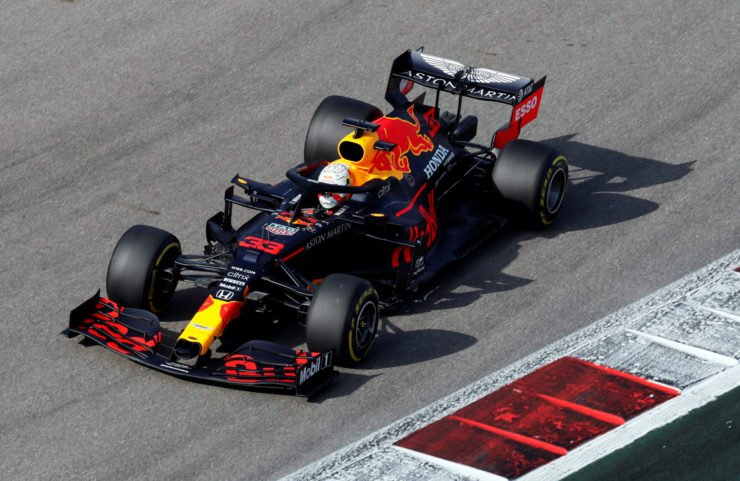 Red Bull driver Max Verstappen during a practice session in Sochi