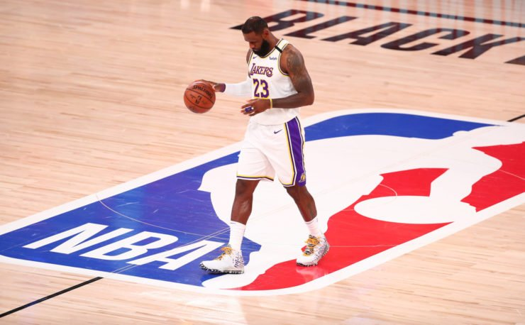 Los Angeles Lakers star LeBron James at the 2020 NBA Playoffs