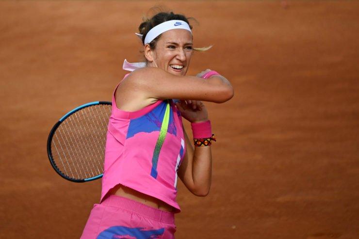 Victoria Azarenka in action in Rome