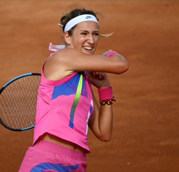 Victoria Azarenka in action in Rome