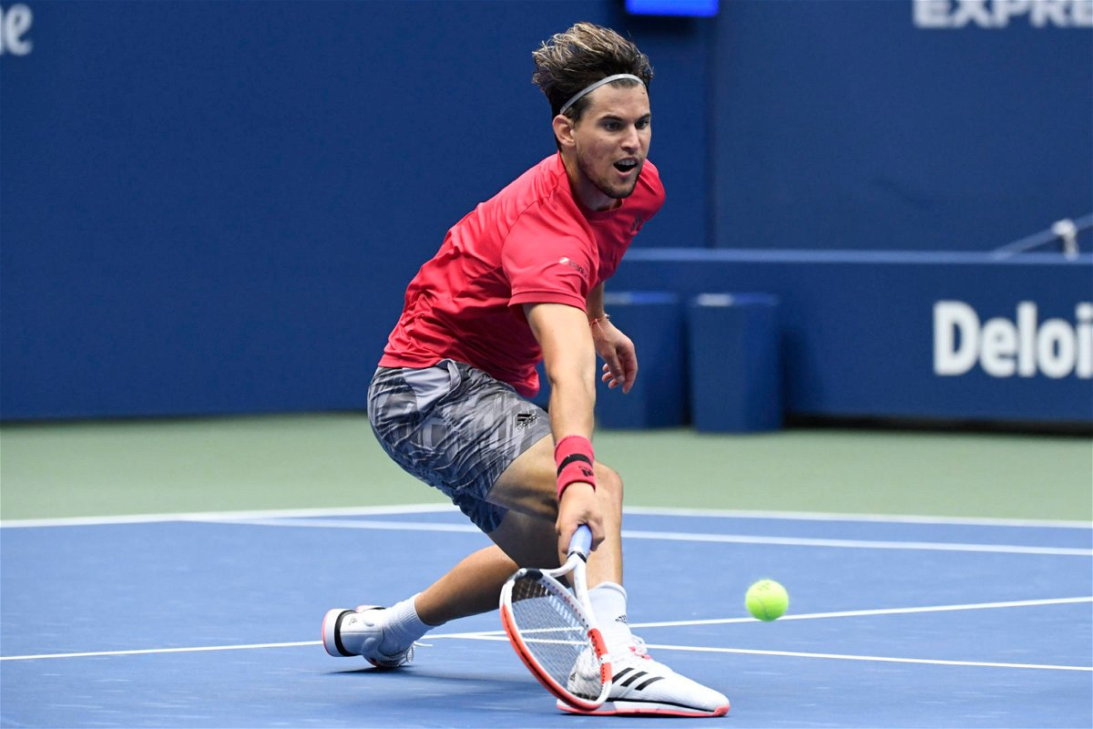 Dominic Thiem in action in the US Open 2020