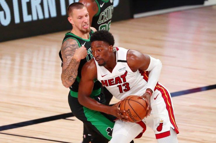 Miami Heat vs Boston Celtics: Bam Adebayo and Daniel Theis