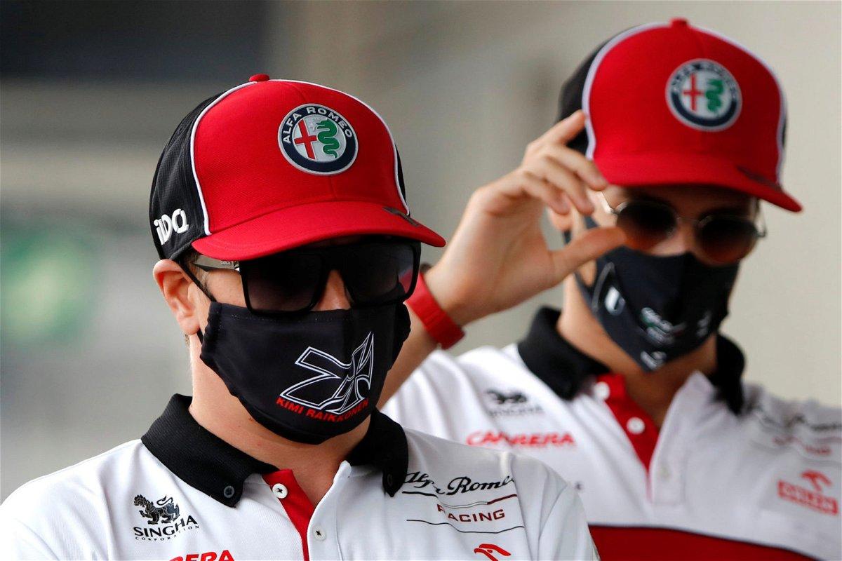 Kimi Raikkonen and Antonio Giovinazzi At Russian GP Press Conference