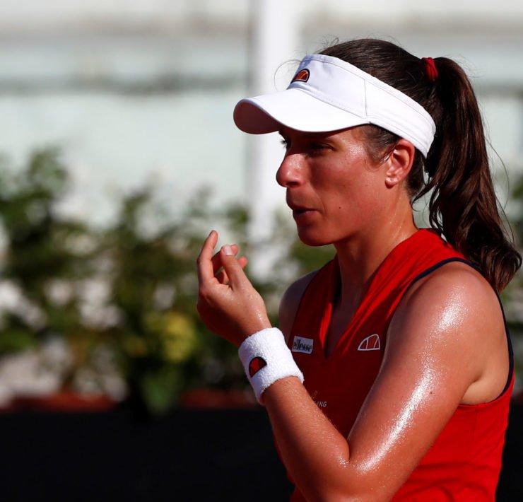 Johanna Konta at the Italian Open 2020