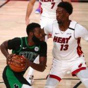 Miami Heat Bam Adebayo vs Celtics Jaylen Brown