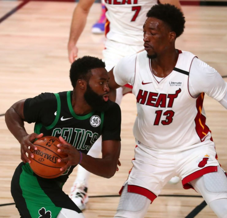 Miami Heat Bam Adebayo vs Celtics Jaylen Brown