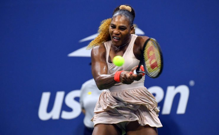 Serena Williams in action in the US Open 2020