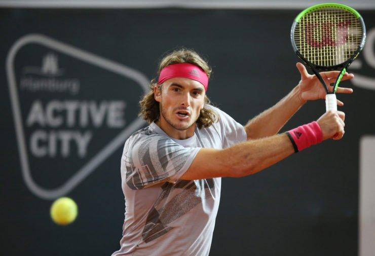 Stefanos Tsitsipas at the German Open 2020