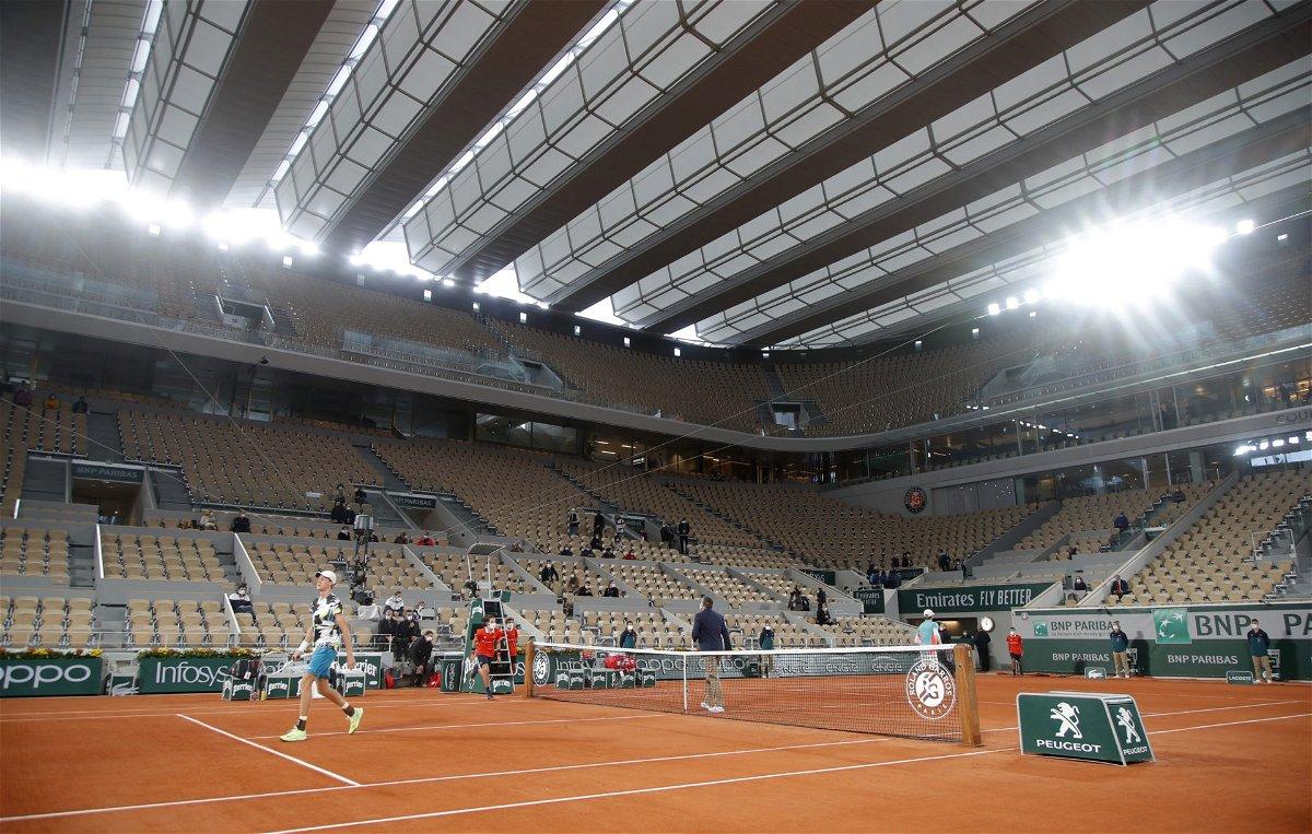 大卫·高芬和Jannik罪人的行动,在法国网球公开赛2020
