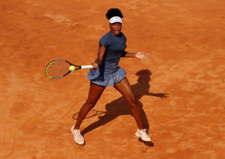 Venus Williams in action at Italian Open 2020