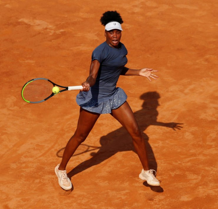 Venus Williams in action at Italian Open 2020
