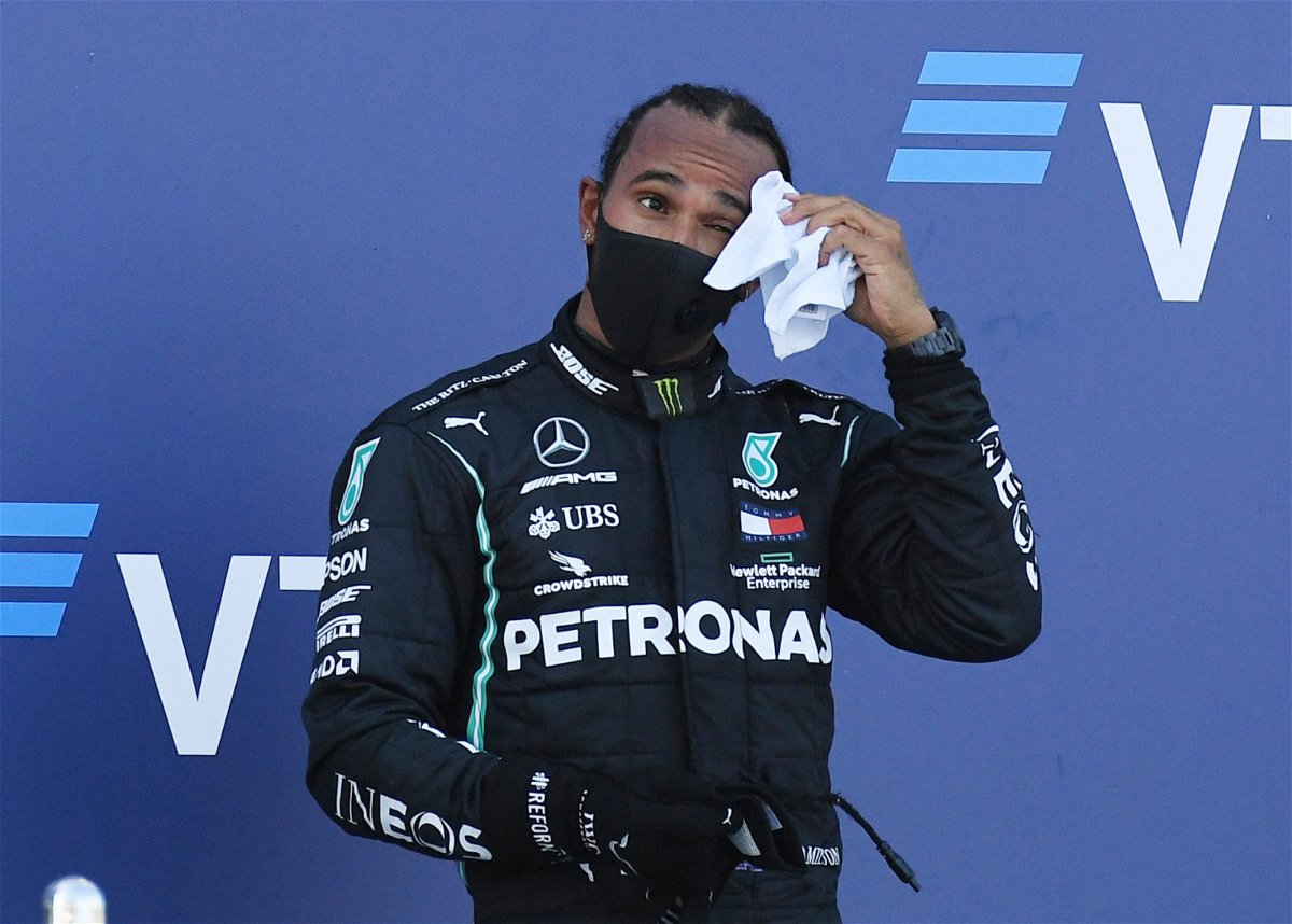 A hard day in the field for Mercedes driver Lewis Hamilton in Sochi