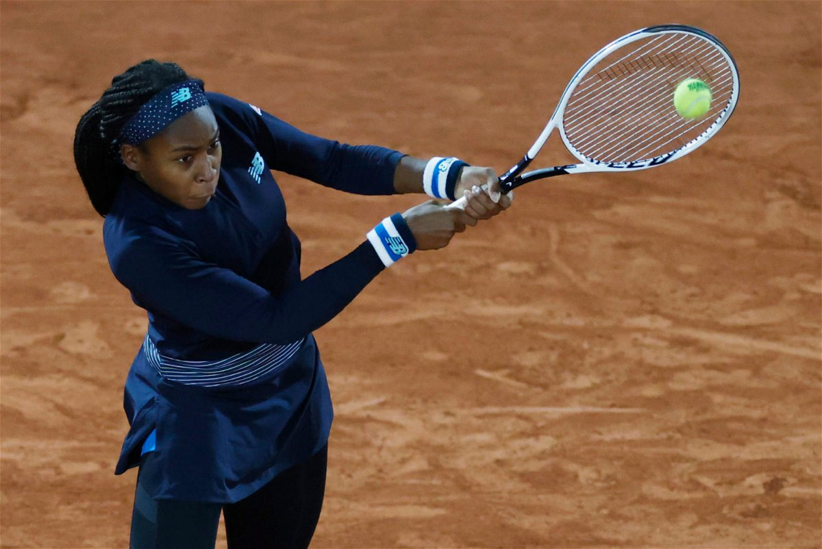 Coco Gauff at the French Open 2020