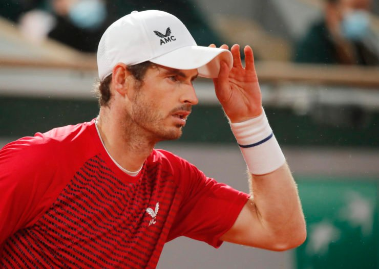 Andy Murray at the French Open 2020