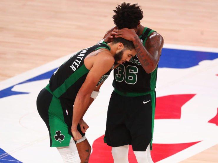 Boston Celtics stars Marcus Smart and Jayson Tatum in 2020 NBA playoffs