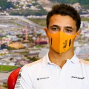McLaren's Lando Norris during the press conference at Russian Grand prix 2020