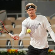 Alexander Zverev in action at French Open 2020