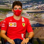 Ferrari's Charles Leclerc during the press conference at Russian Grand Prix 2020