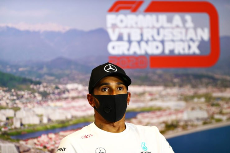 Lewis Hamilton At Russian GP Press Conference