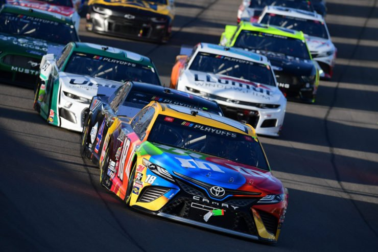 Kyle Busch in action in the NASCAR Cup Series