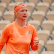 Kiki Bertens in her first round match in the French Open 2020