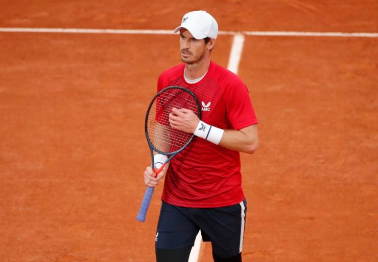 Andy Murray in the French Open 2020