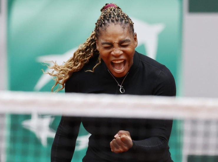 小威廉姆斯庆祝在法国网球公开赛2020