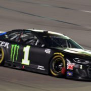 Kurt Busch on his way to victory at the Southern Point 400