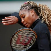 Serena Williams at French Open 2020