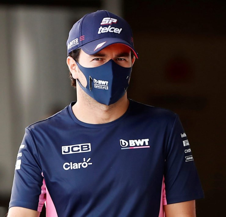 Sergio Perez In The Racing Point Paddock